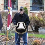 The bell was rung for each name read by Russ Larsen.