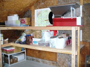 The storage shed is the most organized building we have.
